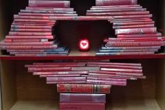 Walentynki na wesoło w bibliotece szkolnej - 21.02.2021 r.